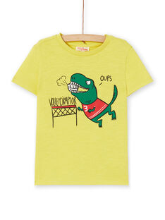 Tee Shirt Manches Courtes Jaune LOJOTI5 / 21S90234TMCB102