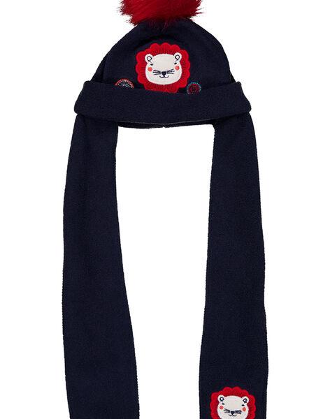 Bonnet écharpe avec pompom  GYITRIBON / 19WI09J1BON070