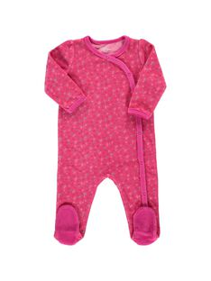 Dors-bien en velours bébé fille CEFIGREFRU / 18SH1344GRE099