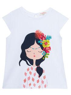 T-shirt manche courte, imprimé jeune fille JABOTI1 / 20S901H1TMC000