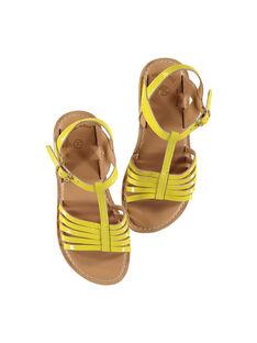 Sandale ville en cuir verni fille FFSANDOLI1 / 19SK35C4D0E010