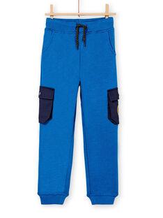 Jogging doublé tout chaud bleu vif enfant garçon KOSAJOG / 20W902O2PANC221