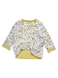 Tee Shirt Manches Longues Ecru GUJAUTEE2 / 19WG10H1TML001