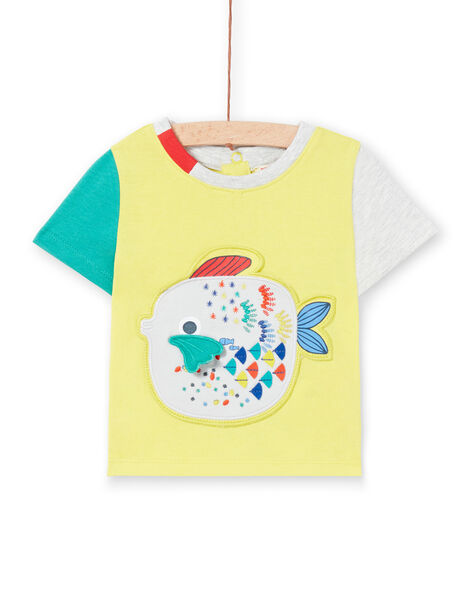 Tee Shirt Manches Courtes Jaune  LUVITI3 / 21SG10U1TMCB115