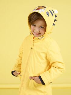 Imperméable jaune motif tigre enfant garçon MOGROIMP1 / 21W90251D59B116