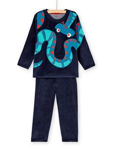 Pyjama PHOSPHORESCENT enfant garçon motif serpent KEGOPYJSER / 20WH12C2PYJC243