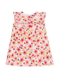 Robe imprimée fleuri bébé fille JIDUROB2 / 20SG09O3ROB001