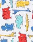 Body écru imprimé animaux multicolores LEGABODSAF / 21SH1429BDL001