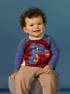 T-shirt manches longues animation dinosaure bébé garçon MUPATEE1 / 21WG10H1TML719