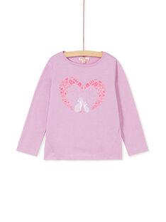 T-shirt manches longues et imprimé petits renard formant un coeur KABOTEE2 / 20W901N1TMLH706