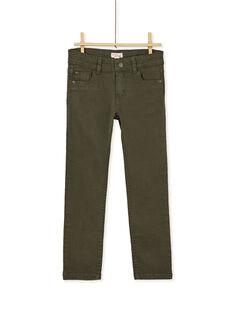 Pantalon droit kaki enfant garçon KOJOPATWI3 / 20W90233D2B604