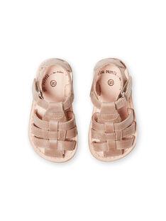 Sandales taupe bébé garçon LBGSANDTEO / 21KK3857D0E803