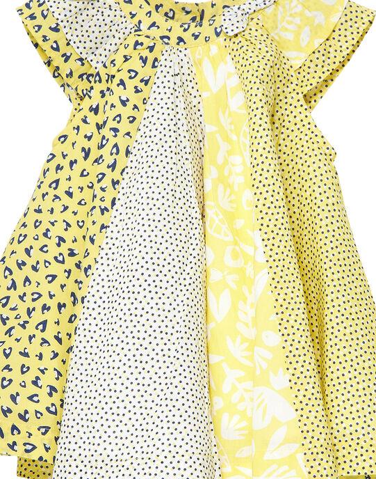 Robe imprimée patchwork bébé fille JITROROB1 / 20SG09F1ROB102