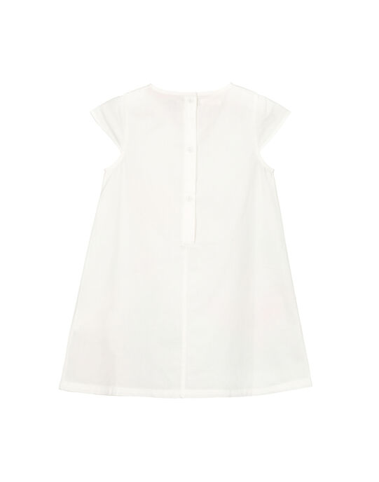 Robe blanche fantaisie fille FACAROB4 / 19S901D4ROB000