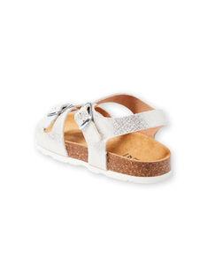 Sandales argentées enfant fille LFNUARGENT / 21KK355QD0E956