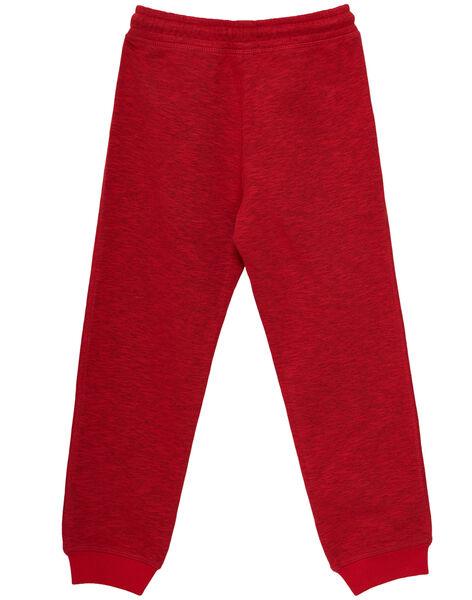 Jogging en molleton garçon rouge avec poche zippées JOGRAPAN1 / 20S902E2PANF520