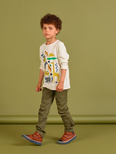 Pantalon uni kaki enfant garçon MOKAPAN / 21W902I1PAN628