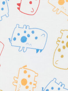 Body manches courtes layette garçon imprimé rhinocéros KEGABODAOP / 20WH1496BDL001