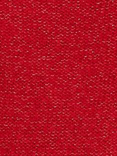 Cardigan manches longue de couleur rouille avec du lurex ton sur ton  KAJOCAR4 / 20W90132D3C408