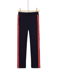 Pantalon en milano, bande en lurex sur les côtés KAJOMIL3 / 20W90152D2B070