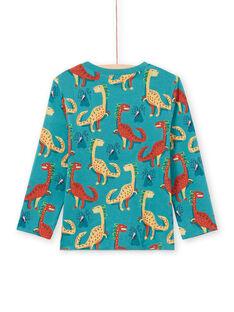 T-shirt manches longues réversible bleu enfant garçon MOTUTEE3 / 21W902K1TMLC239