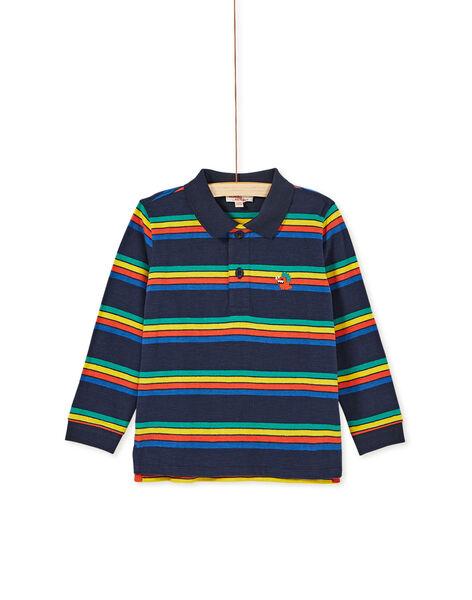 Polo manches longues multicolore enfant garçon. KOREPOL / 20W902G1POL705