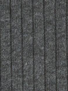 Legging côtelé gris foncé bébé fille KYIJOLEGCO4 / 20WI0956D26944