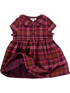 Robe en flanelle bébé fille DIPINROB1 / 18WG09P1ROB099