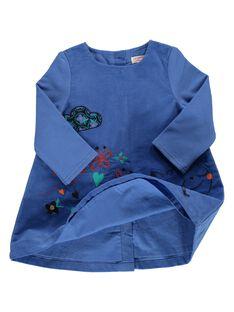 Robe en velours bébé fille DIBLEROB2 / 18WG0992ROB201