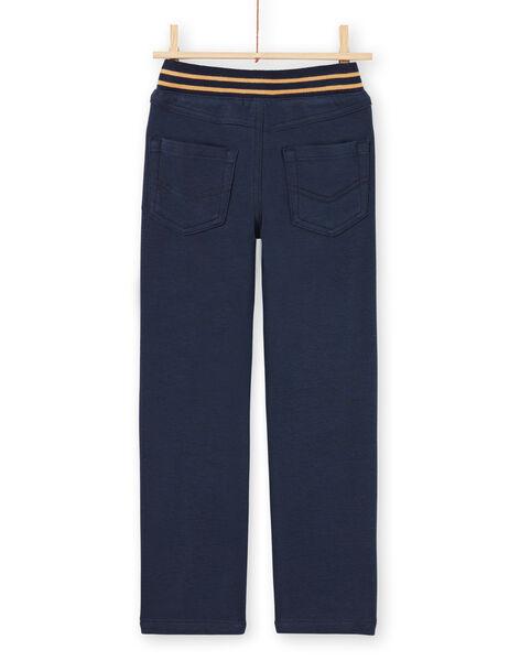 Pantalon bleu nuit enfant garçon MOMIXPAN / 21W902J1PAN717