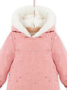 Combipilote à capuche rose à pois bébé fille MIKAPIL / 21WG0961PIL303