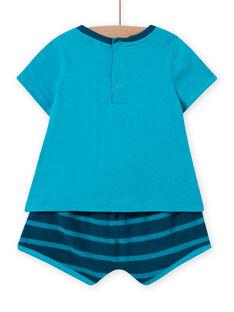 Ensemble de plage bleu turquoise bébé garçon LUPLAENS2 / 21SG10T1ENS202