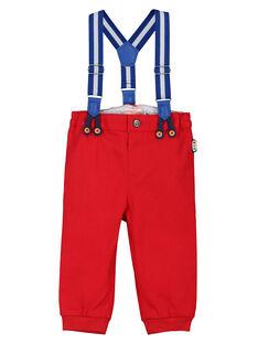 Pantalon rouge à bretelles bébé garçon FUCOPAN / 19SG1081PANF505