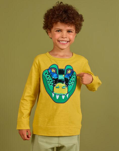 Tee Shirt Manches Longues Jaune MOKATEE2 / 21W902I3TML106