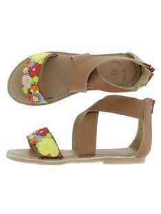 Sandale en cuir fille CFSANDBROD / 18SK35W7D0E804