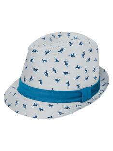 Chapeau enfant garçon avec motif + grosgrain autour du chapeau  JYOJACHAP1 / 20SI02B1CHAJ917