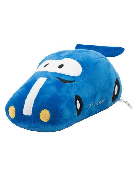Peluche voiture bleue de course JVoiture Bleue / 20T8GG12PE2099