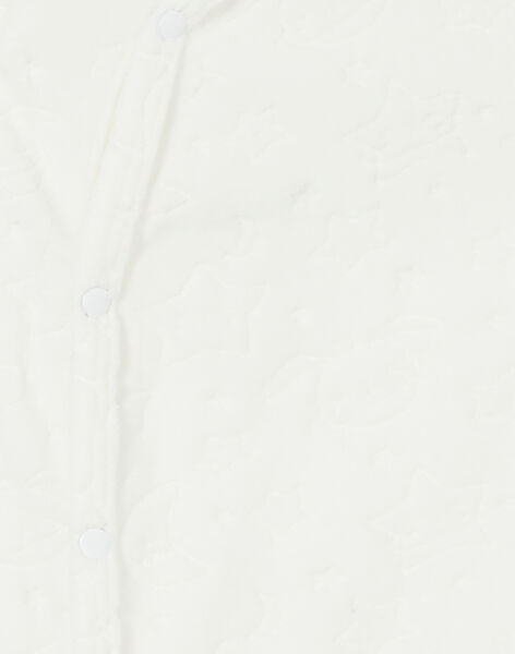 Grenouillère en velours écru à motifs galaxie KOU1GRE5 / 20WF7714GRE001