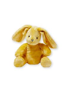 Doudou lapin jaune en velours LOU1DOU3 / 21SF42H1JOU103
