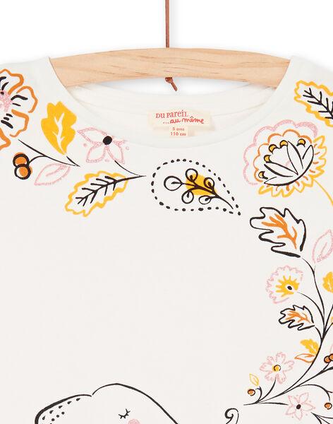 Tee Shirt Manches Courtes Ecru LAPOETI2 / 21S901Y2TMC001
