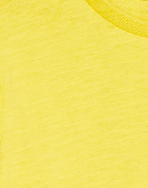 Tee shirt manches longues moutarde enfant garçon KOJOTEE4 / 20W90235D32106