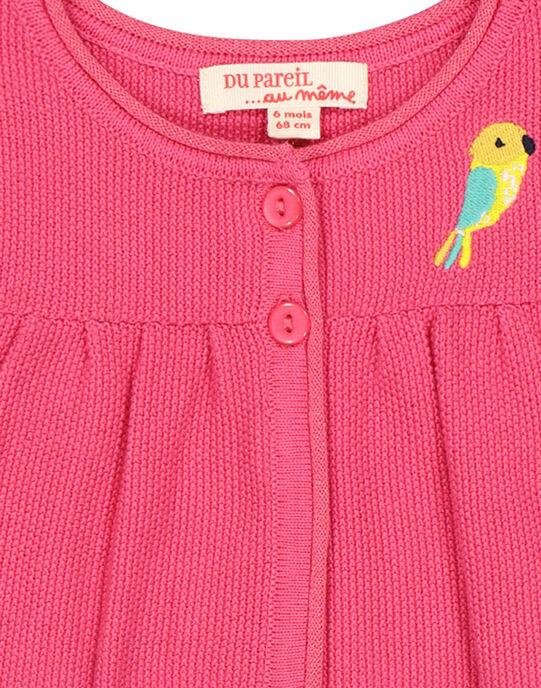 Gilet boléro en laine bébé fille FICACAR1 / 19SG09D1CAR302