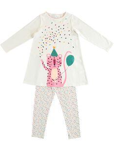 Chemise de nuit avec legging enfant fille JEFACHUPAN / 20SH11C1CHN001