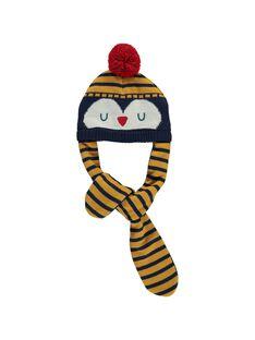 Bonnet-écharpe bébé garçon DYUNAUBON / 18WI10G1BON713
