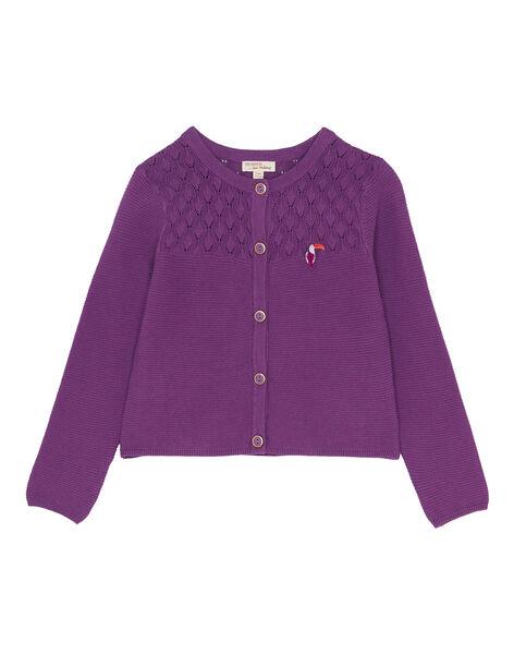 Cardigan Violet JASAUCAR / 20S901Q1CARH708