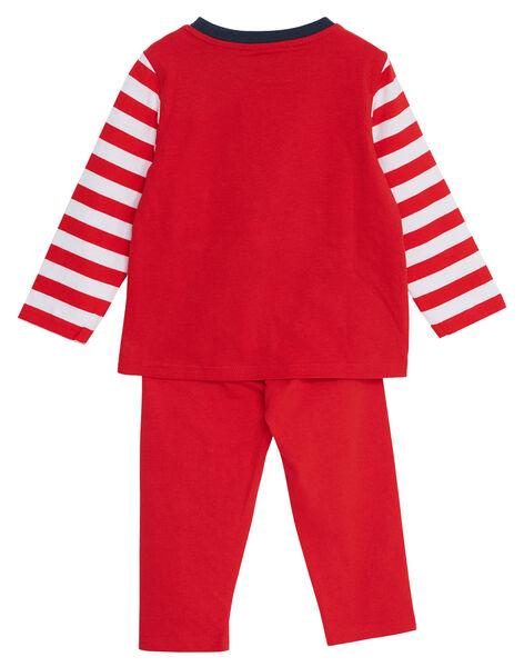 Pyjama en jersey rouge enfant garçon JEGOPYJMAR / 20SH1226PYJ505