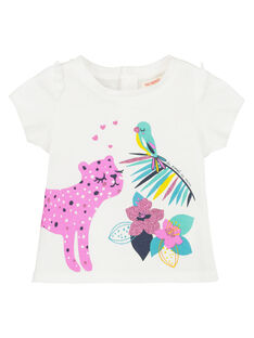Tee-shirt manches courtes bébé fille FITUTI1 / 19SG09F1TMCA001