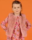 Gilet sans manches réversible en fausse fourrure enfant fille MASAUCAR1 / 21W901P2CAR303