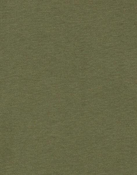 Tee shirt manches longues kaki garçon KOBOTEE4 / 20W902N4TMLG607
