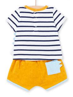 Ensemble short éponge et T-shirt jersey bébé garçon LUPLAENS1 / 21SG10T2ENS000